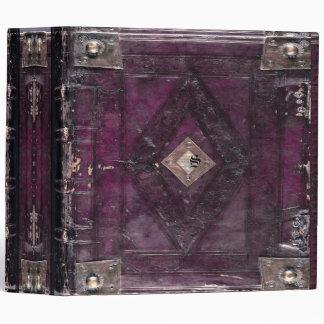 Lawsondern Vino Vintage Monogram Old Book 3 Ring Binder