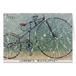 Lawson's Bicyclette-1879 - distressed Greeting Cards