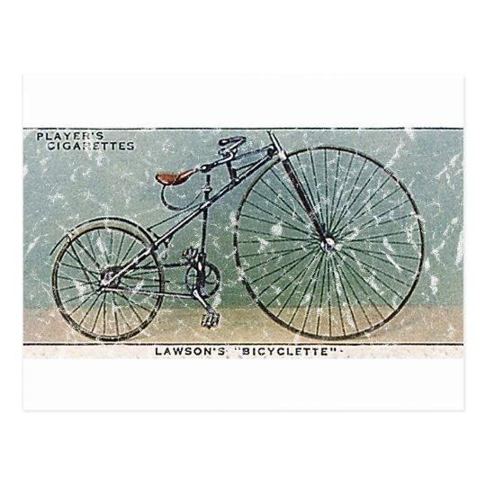 Lawson's Bicyclette-1879 - distressed Postcard