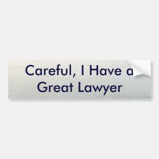 Lawsuit Bumper Sticker