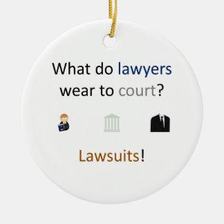 Lawsuits Joke Ceramic Ornament