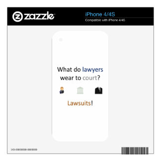Lawsuits Joke Decals For The iPhone 4S