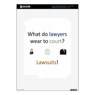 Lawsuits Joke iPad 3 Decal