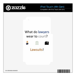 Lawsuits Joke iPod Touch 4G Decal