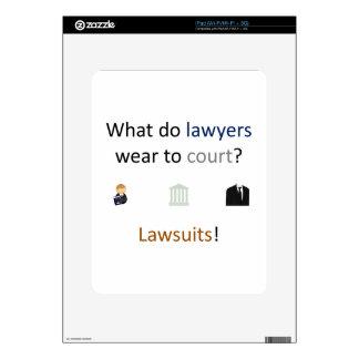 Lawsuits Joke Skins For iPad