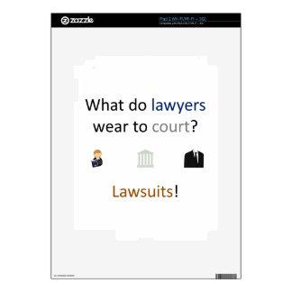 Lawsuits Joke Skins For iPad 2