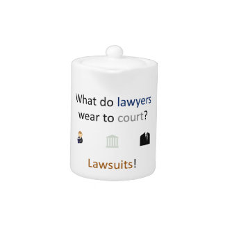 Lawsuits Joke Teapot
