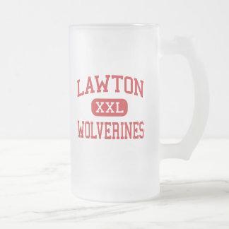 Lawton - carcayúes - alto - Lawton Oklahoma Jarra De Cerveza Esmerilada
