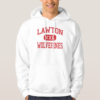 Lawton - Wolverines - High - Lawton Oklahoma Hoodie