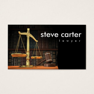 Lawyer Advocate Law Justice Business Card