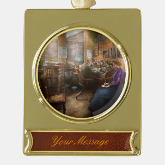 Lawyer - Always taking notes - 1902 Gold Plated Banner Ornament