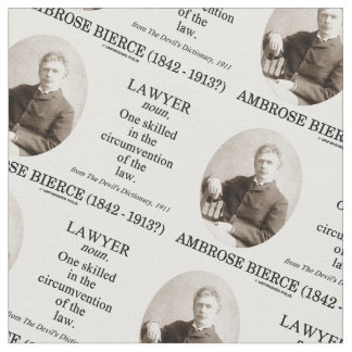 Lawyer Ambrose Bierce The Devil's Dictionary Fabric