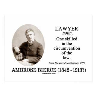 Lawyer (Ambrose Bierce The Devil's Dictionary) Post Card
