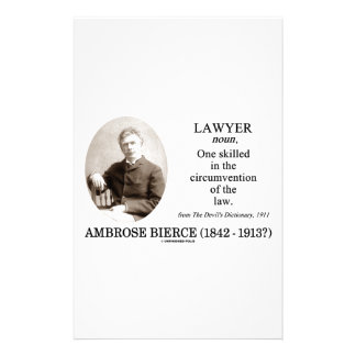 Lawyer (Ambrose Bierce The Devil's Dictionary) Stationery