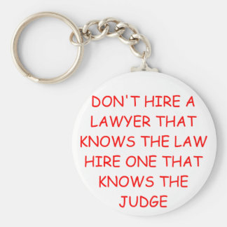 LAWYER and the judge Basic Round Button Keychain