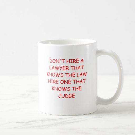 LAWYER and the judge Mugs