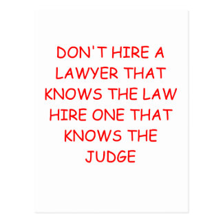 LAWYER and the judge Postcard