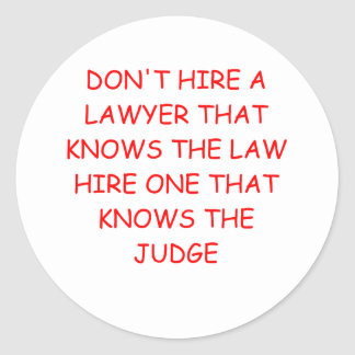 LAWYER and the judge Stickers