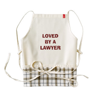 Lawyer Apron to give: Loved by a lawyer Zazzle HEART Apron