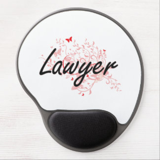 Lawyer Artistic Job Design with Butterflies Gel Mouse Pad