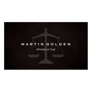 Lawyer Attorney at Law Leather Business Card