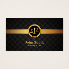 Lawyer Attorney At Law Luxury Gold Striped Business Card at Zazzle
