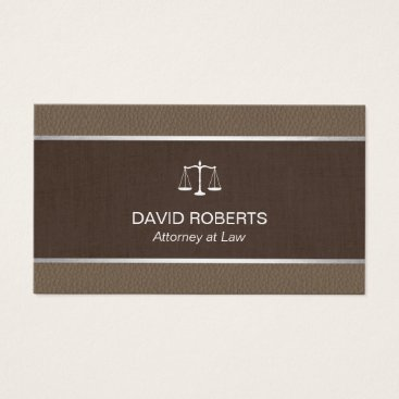 Lawyer Themed Lawyer Attorney Classic Tan Leather Brown Belt Business Card