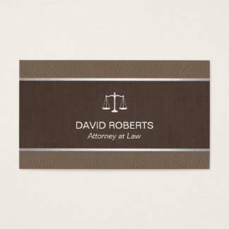 Lawyer Attorney Classic Tan Leather Brown Belt Business Card