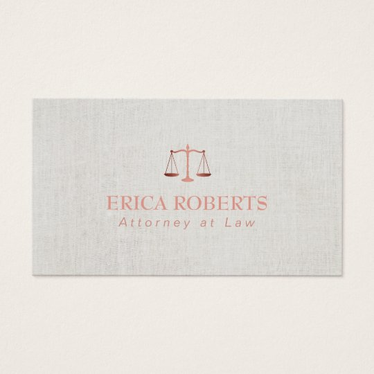 Lawyer attorney foil rose gold classy linen business card zazzle lawyer attorney foil rose gold classy linen business card reheart Gallery