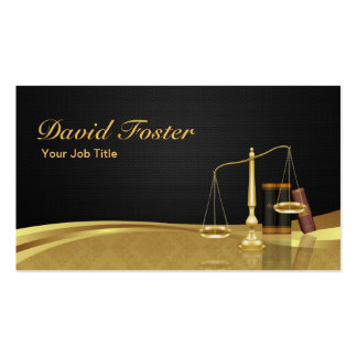 Lawyer Attorney Justice Elegant Black Gold Damask Double-Sided Standard Business Cards (Pack Of 100)