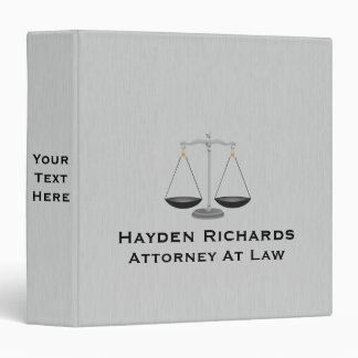 Lawyer Attorney Justice Scales 3 Ring Binder