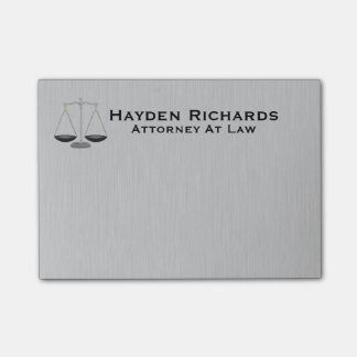 Lawyer Attorney Justice Scales Post-it Notes