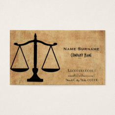 Lawyer, Attorney, Law Firm Business Card at Zazzle