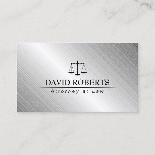 Lawyer Attorney Law Office Modern Metallic Business Card Zazzle