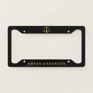 Lawyer Attorney Licence Plate Frame