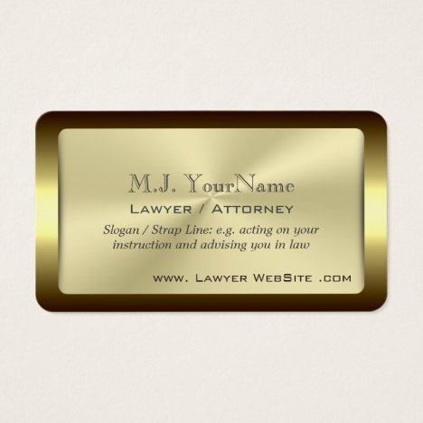 Lawyer / Attorney luxury framed gold-effect Business Card