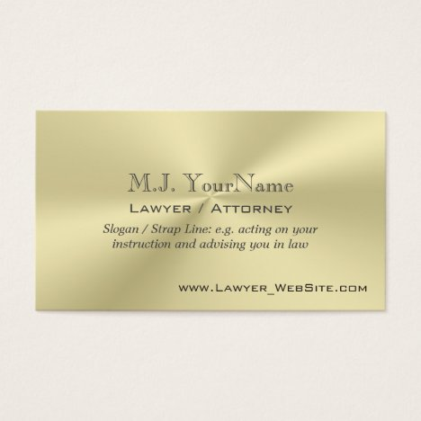 Lawyer / Attorney luxury gold-effect