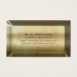 Lawyer / Attorney luxury gold-effect Business Card