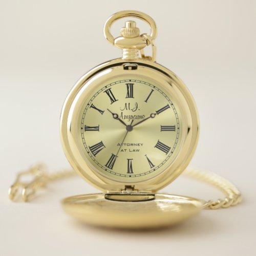 Lawyer / Attorney luxury golden-look slogan Pocket Watch