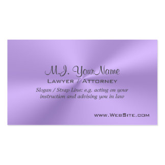 Lawyer / Attorney luxury lilac chrome-effect Business Card