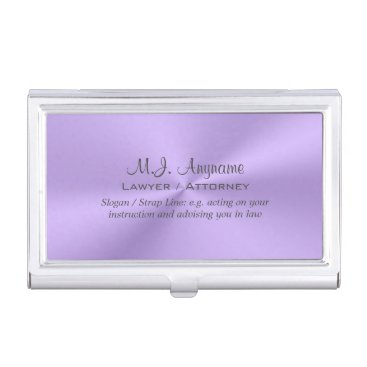 Lawyer Themed Lawyer / Attorney luxury lilac chrome-look Business Card Holder