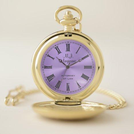 Lawyer / Attorney luxury lilac chrome-look