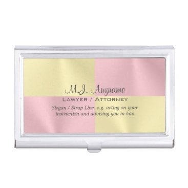 Lawyer Themed Lawyer / Attorney luxury rose pink battenburg-look Business Card Holder