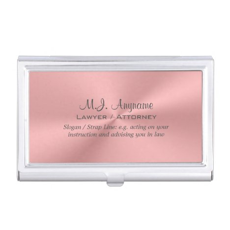 Lawyer / Attorney luxury rose pink chrome-look
