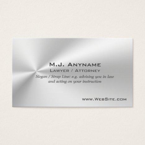 Lawyer / Attorney luxury silver-effect