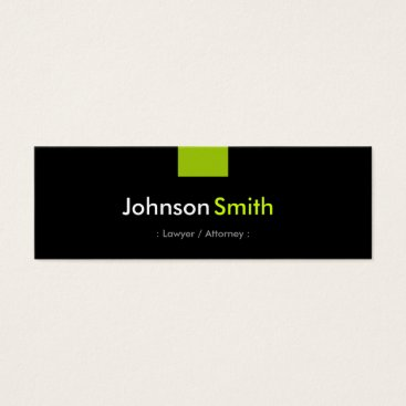 Lawyer Themed Lawyer / Attorney - Mint Green Compact Mini Business Card