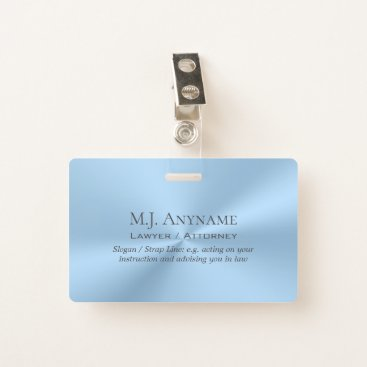Lawyer Themed Lawyer / Attorney / Paralegal luxury ice blue Badge