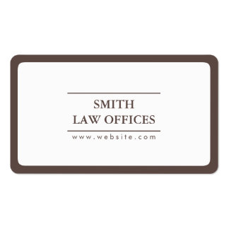 Lawyer Attorney Plain Round Corner Business Card