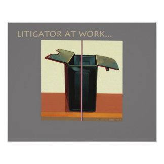 """Lawyer Attorney Poster """"Litigator at Work"""" Legal"""