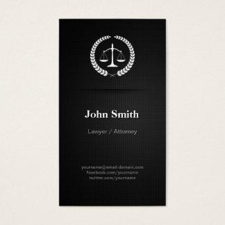 Lawyer / Attorney - Professional Elegant Black Business Card